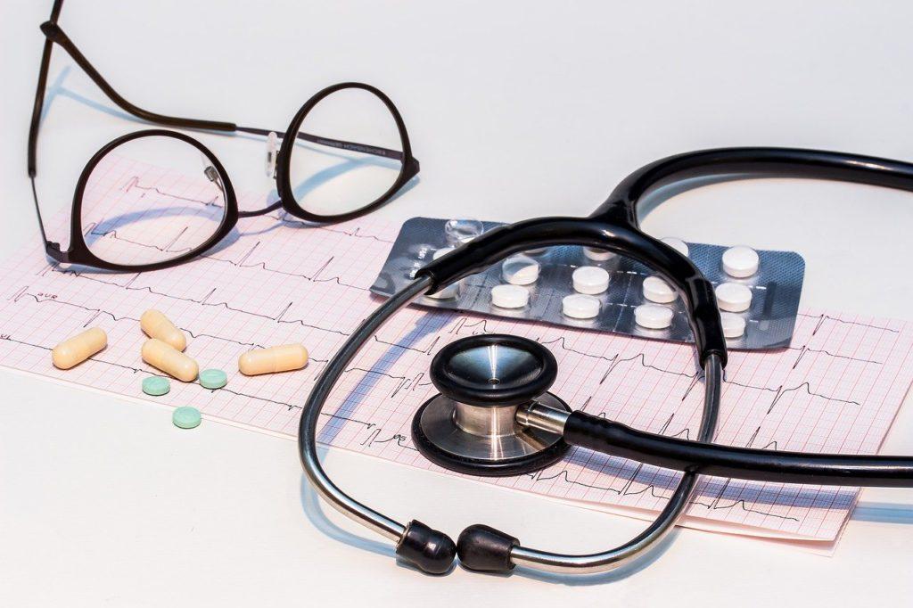 ecg, electrocardiogram, stethoscope