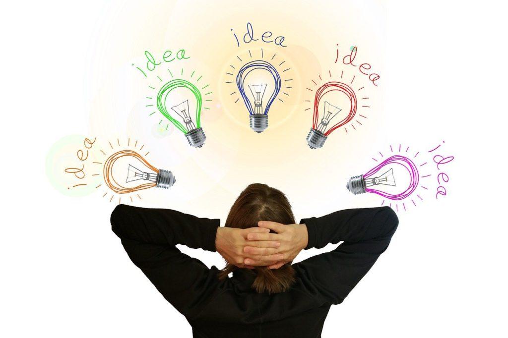 light bulb, idea, think